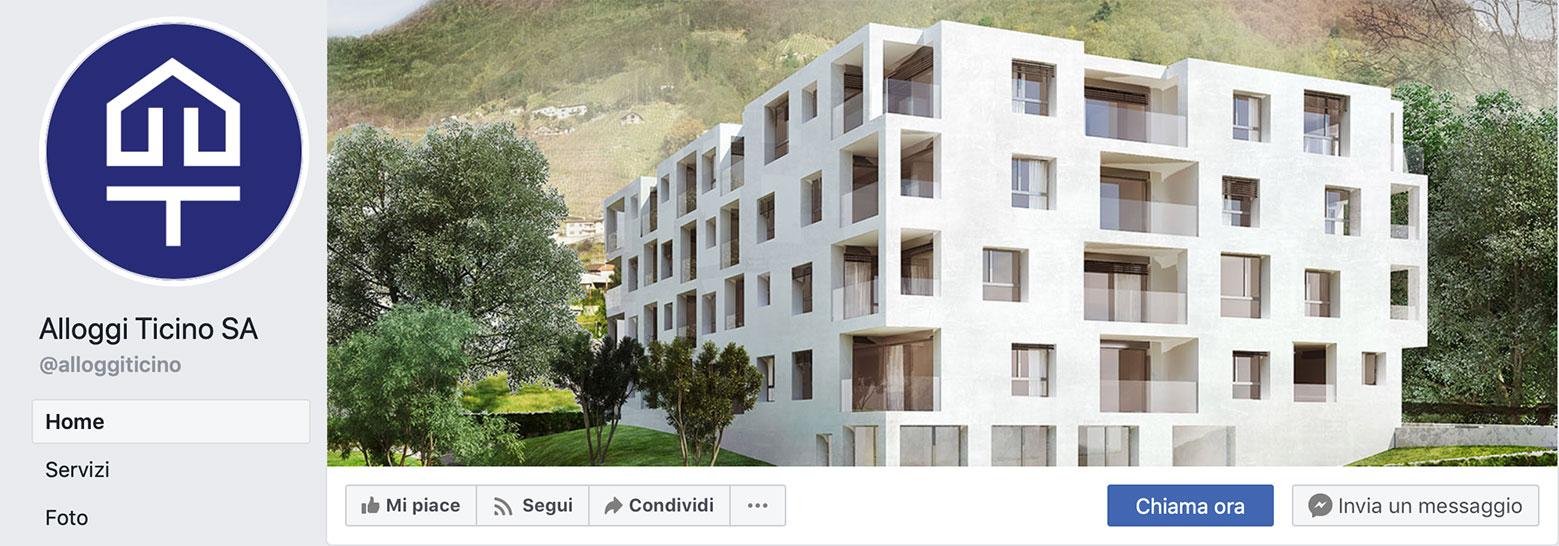 Pagina Facebook di Alloggi Ticino